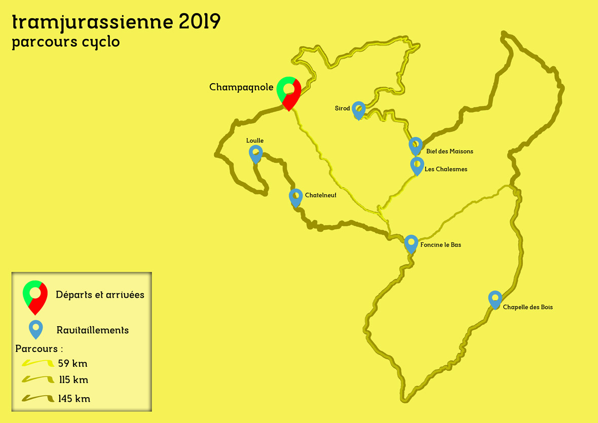 Tracé Cyclotouriste Tram'Jurassienne